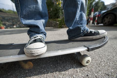 A boy with skateboard Stock Photo