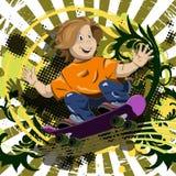 Boy on a skateboard Stock Photography