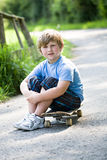 Boy with a skateboard Royalty Free Stock Photography