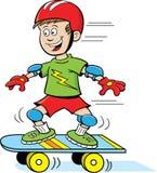 Boy on Skateboard. Cartoon illustration of a boy riding a skateboard Royalty Free Stock Images
