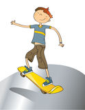 Boy with skateboard Royalty Free Stock Images