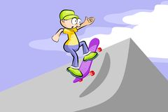 A boy on skateboard Royalty Free Stock Photo