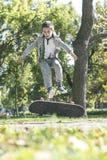 Boy with skateboard Royalty Free Stock Photos