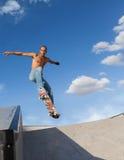 Boy on a skateboard Stock Photos