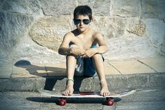 Boy with skateboard Royalty Free Stock Photos