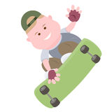 Boy skateboarder Royalty Free Stock Images