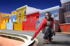 Boy skateboarding Stock Photo