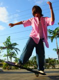 Boy Skateboarding Stock Photography