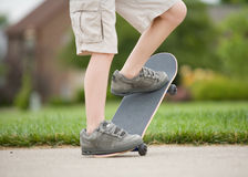 Boy Skateboarding Royalty Free Stock Photo