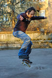Boy skateboarding. A boy skating Royalty Free Stock Images