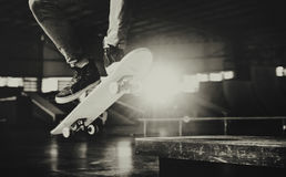 Boy Skateboarding Jump Lifestyle Hipster Concept Royalty Free Stock Photo