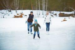 Boy skating Stock Photos
