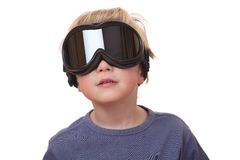 Boy with ski goggles Royalty Free Stock Images