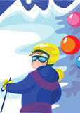 Boy_skier Stock Photography