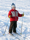 Boy skiing Royalty Free Stock Photo