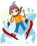 Boy Skiing Royalty Free Stock Photos