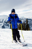 Boy skiing Stock Photo