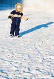 Boy skiing Stock Photo