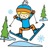 Boy Skiing Royalty Free Stock Photo