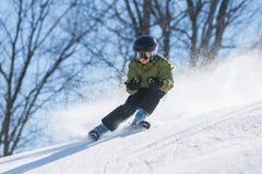 Boy skiing on man-made snows, Beijing