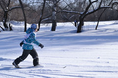 Boy is skiing. Stock Images