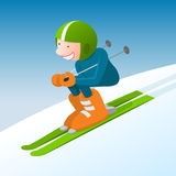 Boy skiing Stock Photography