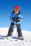 Boy on skis Stock Photos