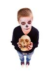 Boy with skull Stock Image