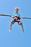 Boy in sky Stock Photography