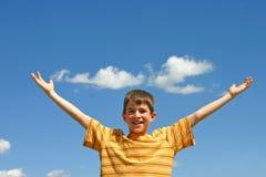 Boy In The Sky Stock Photo