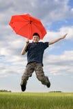 Boy in sky Royalty Free Stock Photo