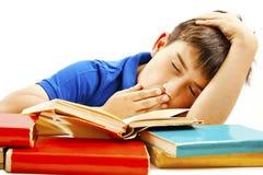 Boy sleep on the table Stock Image