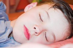 Boy sleeping Royalty Free Stock Image