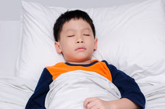 Boy sleeping Royalty Free Stock Photography