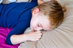 Boy  sleeping Royalty Free Stock Photos