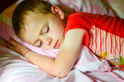 Boy  sleeping Royalty Free Stock Photos