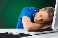 Boy sleeping. Stock Photos