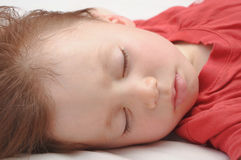 Boy sleeping 3 years old closeup Royalty Free Stock Images