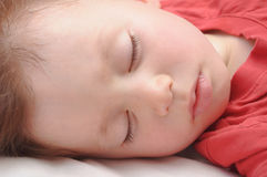 Boy sleeping 3 years old Royalty Free Stock Photography