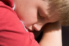 Boy sleeps Royalty Free Stock Photo