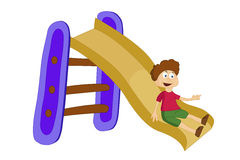 Free Boy Sliding Down The Slide Stock Photography - 68682132
