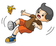 Boy slips. Ilustrator design .eps 10 Stock Image
