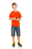 Boy smart phone Stock Image
