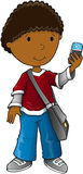 Boy smart phone vector Stock Photos