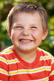 Boy with a smile on his face Stock Image
