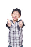 Boy smile and showing thumbs up Royalty Free Stock Images