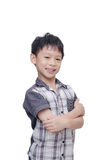 Boy smiles and looking at camera Stock Photography