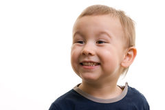 Boy smiling. Portrait of boy showing his teeth Royalty Free Stock Photography