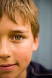 Boy smiling. Half of a handsome boy's smiling face Royalty Free Stock Photo