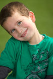 Boy smiling. Happy Boy with blue eyes smiling, portrait Stock Photography